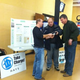 TMP energy and water efficiency display at TMP vs. Victoria basketball game